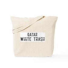 Qatar White Trash Tote Bag