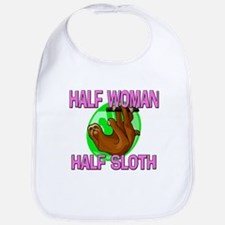 Half Woman Half Sloth Bib