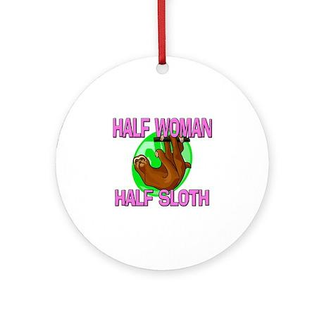 Half Woman Half Sloth Ornament (Round)