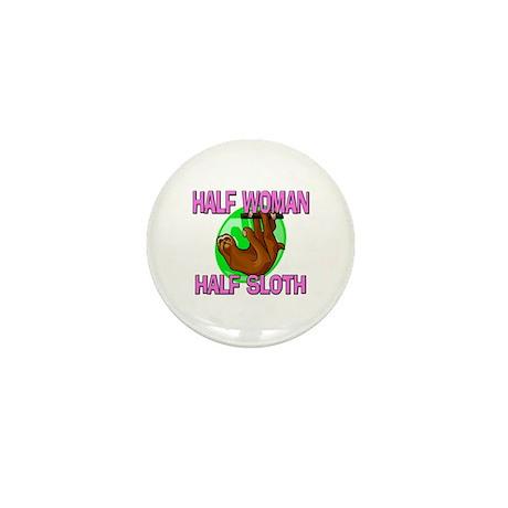 Half Woman Half Sloth Mini Button (10 pack)