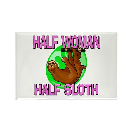 Half Woman Half Sloth Rectangle Magnet
