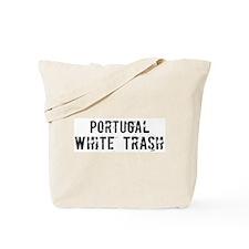 Portugal White Trash Tote Bag