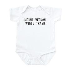 Mount Vernon White Trash Infant Bodysuit