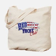 Redneck White & Blue Tote Bag