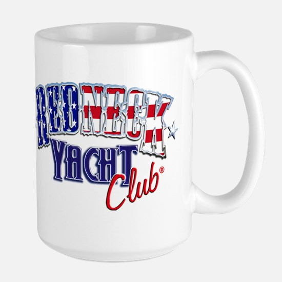 Redneck White & Blue Large Mug