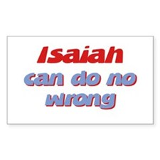 Isaiah Can Do No Wrong Rectangle Decal