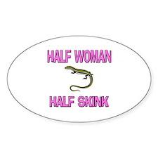 Half Woman Half Skink Oval Decal