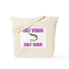 Half Woman Half Skink Tote Bag