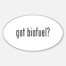 got biofuel? Oval Sticker (10 pk)