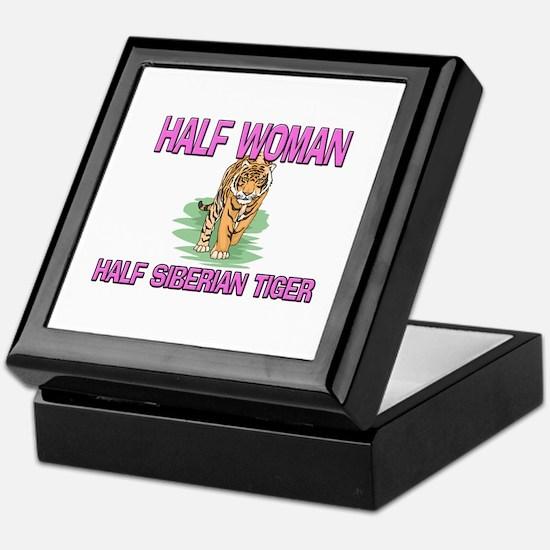 Half Woman Half Siberian Tiger Keepsake Box