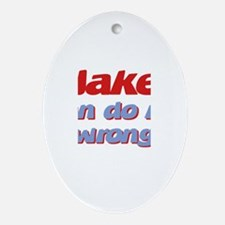 Jake Can Do No Wrong Oval Ornament