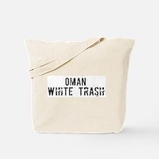 Oman White Trash Tote Bag