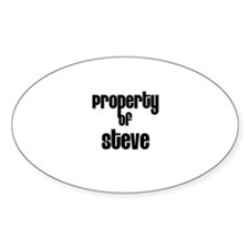 Property of Steve Oval Decal
