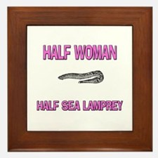 Half Woman Half Sea Lamprey Framed Tile