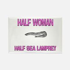 Half Woman Half Sea Lamprey Rectangle Magnet