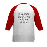 Shaking Family Tree (Black) Kids Baseball Jersey