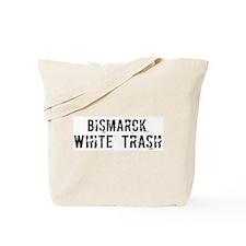 Bismarck White Trash Tote Bag