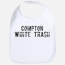 Compton White Trash Bib
