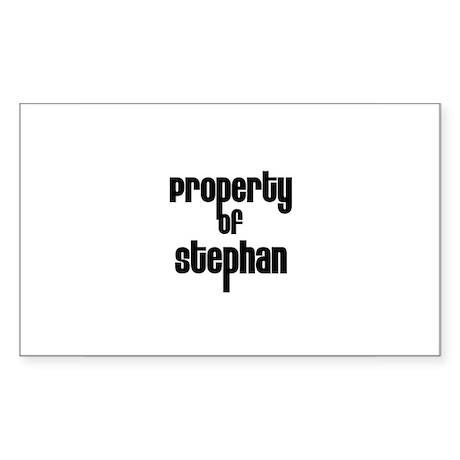 Property of Stephan Rectangle Sticker