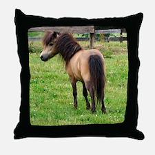 Miniature Horse Buckin Velvet Throw Pillow