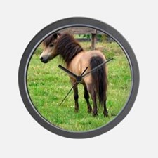 Miniature Horse Buckin Velvet Wall Clock