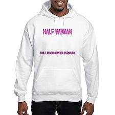 Half Woman Half Rockhopper Penguin Hoodie