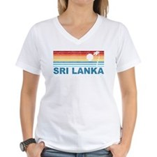 Retro Palm Tree Sri Lanka Shirt