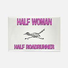 Half Woman Half Roadrunner Rectangle Magnet