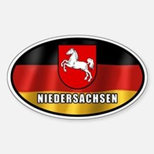 Niedersachsen coat of arms sticker (white letters)