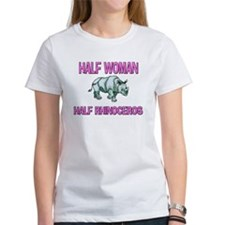 Half Woman Half Rhinoceros Tee