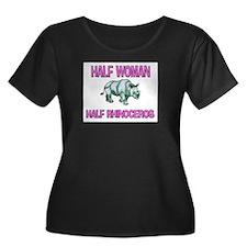 Half Woman Half Rhinoceros T