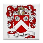 Archambault Family Crest Tile Coaster
