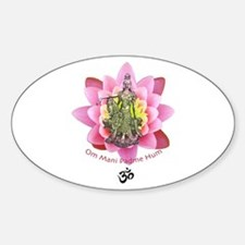 Kuan Yin Mantra Oval Decal