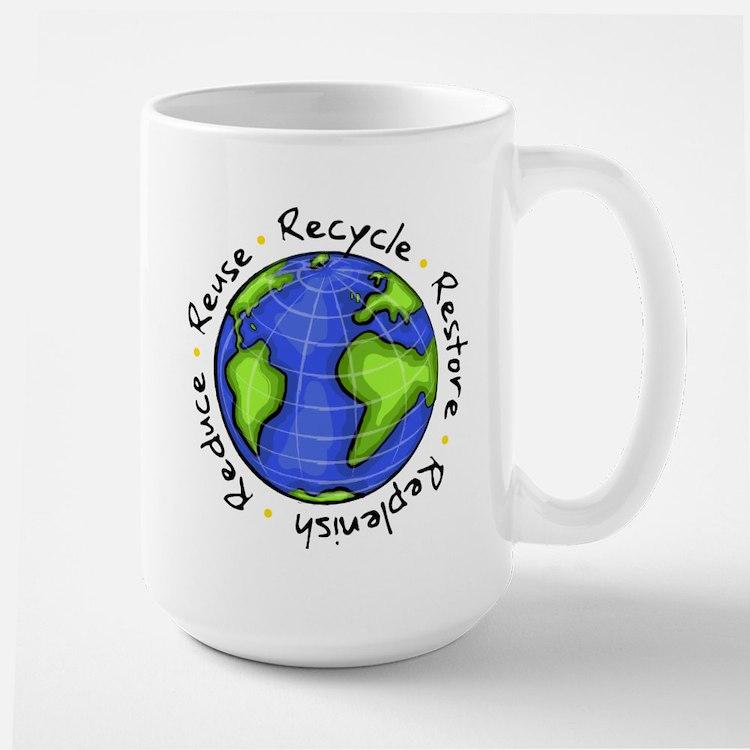 Recycle - Reuse - Reduce - Re Large Mug