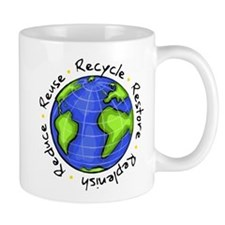 Recycle - Reuse - Reduce - Re Small Mug