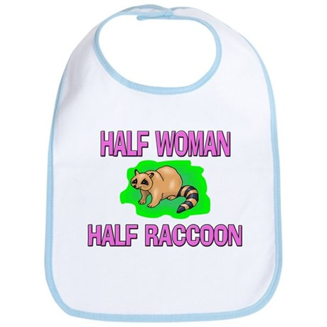 Half Woman Half Raccoon Bib