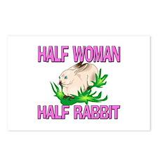 Half Woman Half Rabbit Postcards (Package of 8)