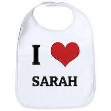 I Love Sarah Bib