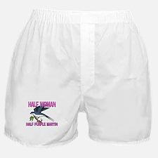 Half Woman Half Purple Martin Boxer Shorts