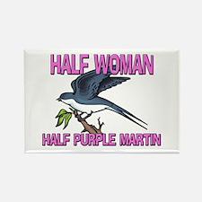 Half Woman Half Purple Martin Rectangle Magnet