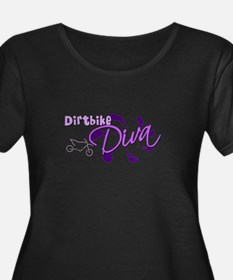 Dirtbike Diva Women's Plus Size Scoop Dark Tshirt