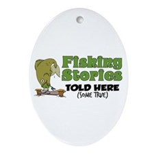 Fishing Stories Oval Ornament