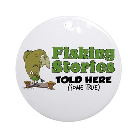 Fishing Stories Ornament (Round)