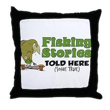 Fishing Stories Throw Pillow