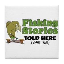 Fishing Stories Tile Coaster