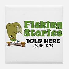 Fishing Stories Tile Coaster