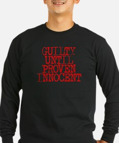 GuiltyUntilProven_Red Long Sleeve T-Shirt