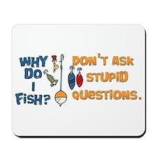 Why Do I Fish? Mousepad