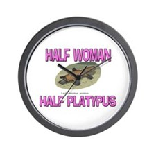 Half Woman Half Platypus Wall Clock