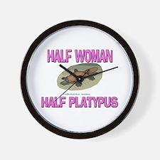 Half Woman Half Platypus Wall Clock